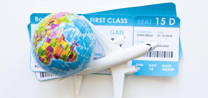 Busque tickets de consolidación para vuelos en el extranjero.
