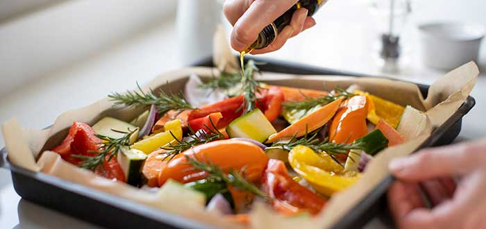 Verduras asadas | Cocción individual de verduras asadas