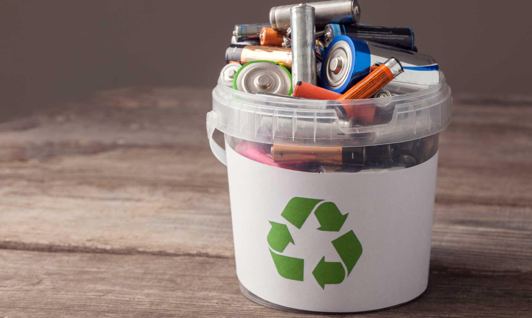 las pilas se pueden reciclar